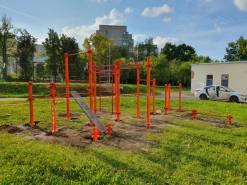 Монтаж спортивного оборудования в школе №39 им Рогожина в Туле