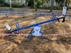 Монтаж детской площадки Воробьево